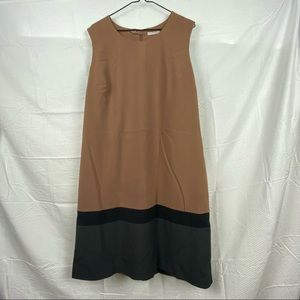 Women's Plus Size Multicolored Sleeveless A-line Business Causal Dress Size 18